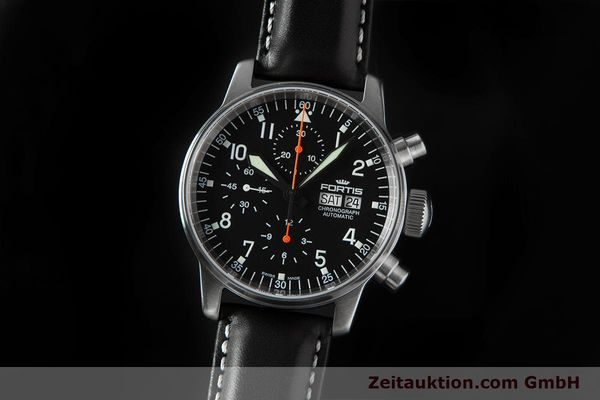 Used luxury watch Fortis Flieger Chronograph chronograph steel automatic Ref. 597.11.141.1  | 153659 05