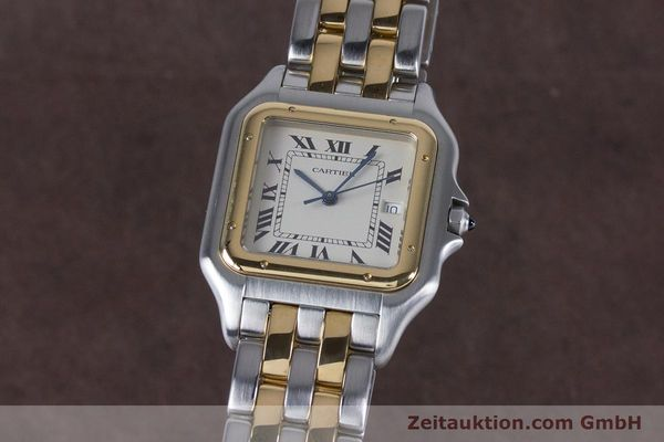 Used luxury watch Cartier Panthere steel / gold quartz Kal. 87.06  | 153666 04