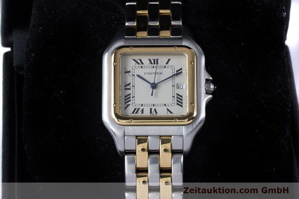 Used luxury watch Cartier Panthere steel / gold quartz Kal. 87.06  | 153666 07