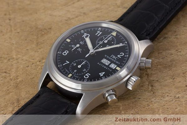 Used luxury watch IWC Fliegerchronograph chronograph steel automatic Ref. 3706  | 153670 01