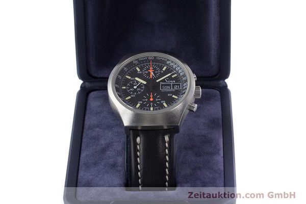 Used luxury watch Sinn 157 chronograph steel automatic Kal. 5100 Lemania  | 153677 07