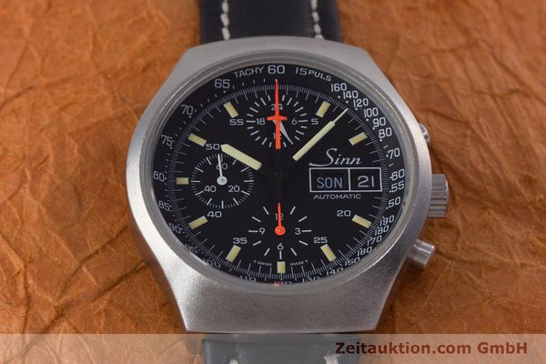 Used luxury watch Sinn 157 chronograph steel automatic Kal. 5100 Lemania  | 153677 14