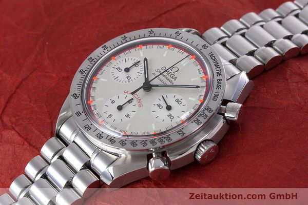 Used luxury watch Omega Speedmaster Racing chronograph steel automatic Kal. 3220A LIMITED EDITION | 153682 01