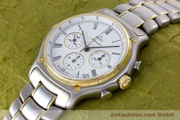Used luxury watch Ebel 1911 chronograph steel / gold automatic Kal. 134 Ref. 64608370  | 153689 01