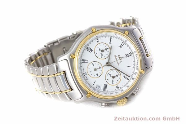 Used luxury watch Ebel 1911 chronograph steel / gold automatic Kal. 134 Ref. 64608370  | 153689 03