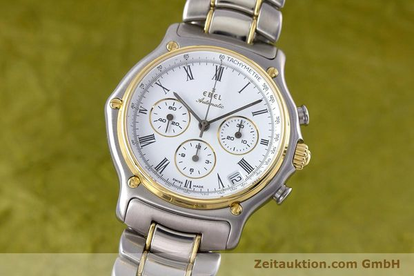 Used luxury watch Ebel 1911 chronograph steel / gold automatic Kal. 134 Ref. 64608370  | 153689 04
