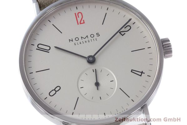 Used luxury watch Nomos Tangente steel manual winding Kal. Alpha  | 153697 02