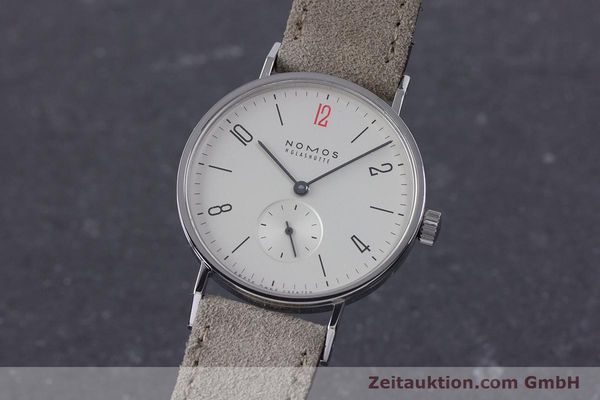 Used luxury watch Nomos Tangente steel manual winding Kal. Alpha  | 153697 04