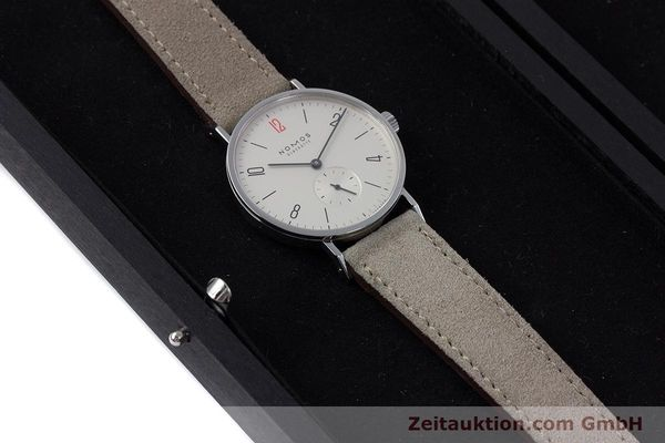 Used luxury watch Nomos Tangente steel manual winding Kal. Alpha  | 153697 07