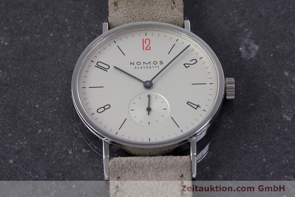 Used luxury watch Nomos Tangente steel manual winding Kal. Alpha  | 153697 16