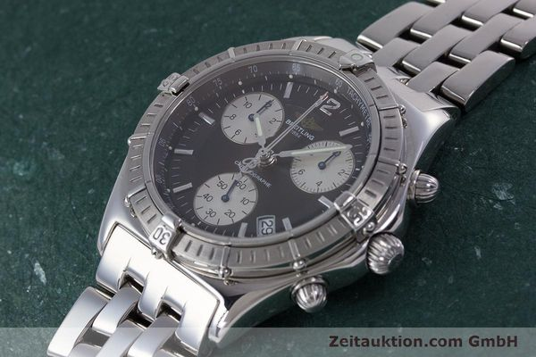 Used luxury watch Breitling Sirius chronograph steel quartz Kal. B53 ETA 251262 Ref. A53011  | 153700 01