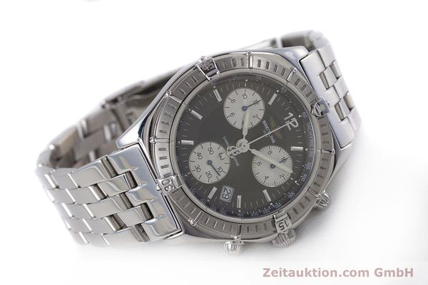 Used luxury watch Breitling Sirius chronograph steel quartz Kal. B53 ETA 251262 Ref. A53011  | 153700 03