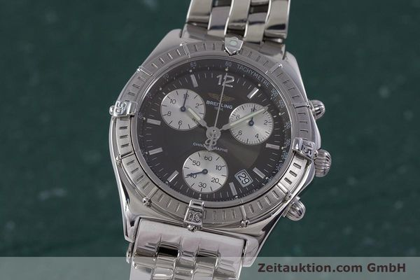 Used luxury watch Breitling Sirius chronograph steel quartz Kal. B53 ETA 251262 Ref. A53011  | 153700 04