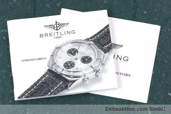 Used luxury watch Breitling Sirius chronograph steel quartz Kal. B53 ETA 251262 Ref. A53011  | 153700 12