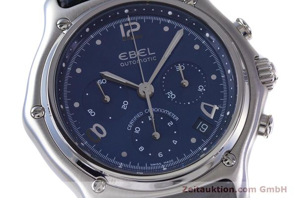 Used luxury watch Ebel 1911 chronograph steel automatic Kal. 137 Ref. E9137240  | 153704 02