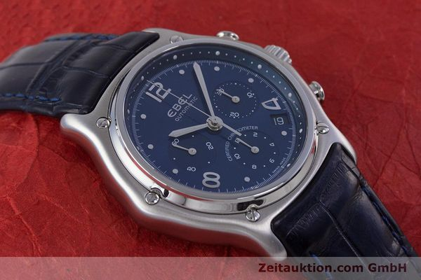 Used luxury watch Ebel 1911 chronograph steel automatic Kal. 137 Ref. E9137240  | 153704 14