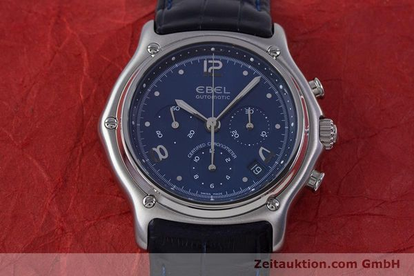 Used luxury watch Ebel 1911 chronograph steel automatic Kal. 137 Ref. E9137240  | 153704 15