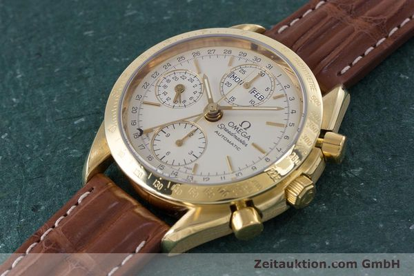Used luxury watch Omega Speedmaster chronograph 18 ct gold automatic Kal. 1152 Ref. 36112000  | 153710 01
