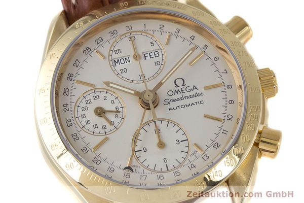 Used luxury watch Omega Speedmaster chronograph 18 ct gold automatic Kal. 1152 Ref. 36112000  | 153710 02