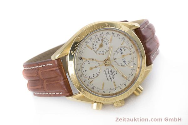 Used luxury watch Omega Speedmaster chronograph 18 ct gold automatic Kal. 1152 Ref. 36112000  | 153710 03