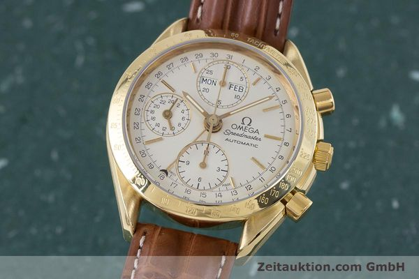 Used luxury watch Omega Speedmaster chronograph 18 ct gold automatic Kal. 1152 Ref. 36112000  | 153710 04