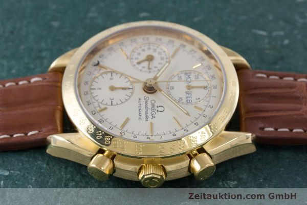 Used luxury watch Omega Speedmaster chronograph 18 ct gold automatic Kal. 1152 Ref. 36112000  | 153710 05
