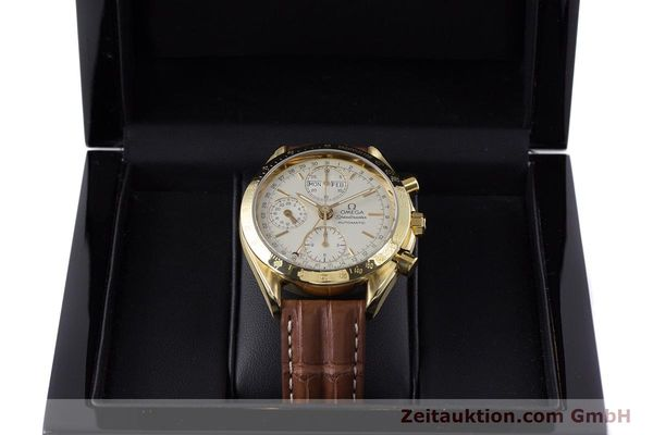 Used luxury watch Omega Speedmaster chronograph 18 ct gold automatic Kal. 1152 Ref. 36112000  | 153710 07