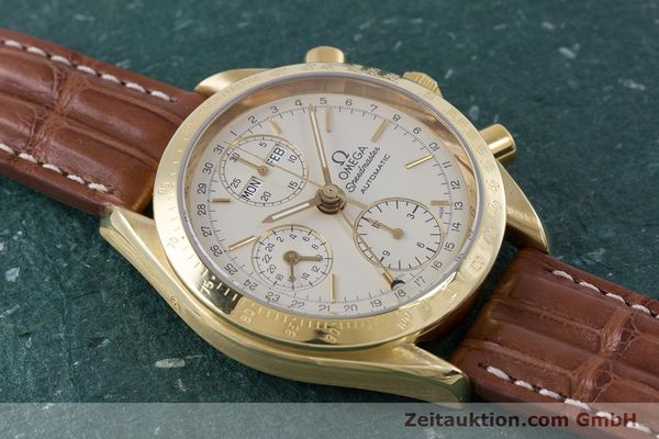Used luxury watch Omega Speedmaster chronograph 18 ct gold automatic Kal. 1152 Ref. 36112000  | 153710 15