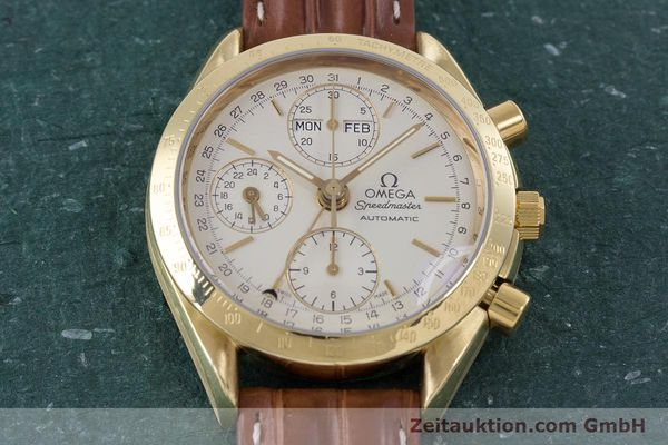 Used luxury watch Omega Speedmaster chronograph 18 ct gold automatic Kal. 1152 Ref. 36112000  | 153710 16