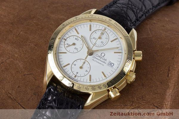 Used luxury watch Omega Speedmaster chronograph 18 ct gold automatic Kal. 1150 Valj. 7751  | 153711 01