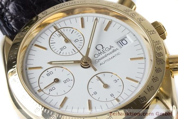 Used luxury watch Omega Speedmaster chronograph 18 ct gold automatic Kal. 1150 Valj. 7751  | 153711 02