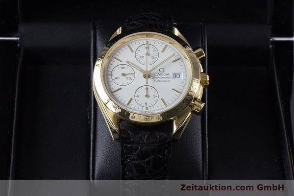 Used luxury watch Omega Speedmaster chronograph 18 ct gold automatic Kal. 1150 Valj. 7751  | 153711 07