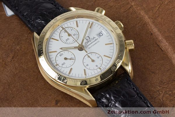 Used luxury watch Omega Speedmaster chronograph 18 ct gold automatic Kal. 1150 Valj. 7751  | 153711 13