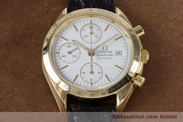 Used luxury watch Omega Speedmaster chronograph 18 ct gold automatic Kal. 1150 Valj. 7751  | 153711 14