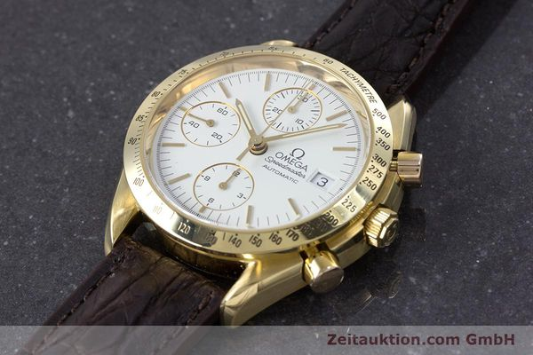 Used luxury watch Omega Speedmaster chronograph 18 ct gold automatic Kal. 1152  | 153712 01