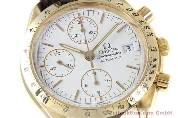 Used luxury watch Omega Speedmaster chronograph 18 ct gold automatic Kal. 1152  | 153712 02