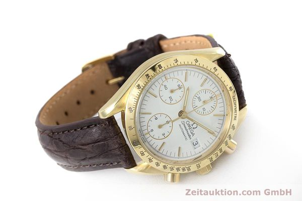 Used luxury watch Omega Speedmaster chronograph 18 ct gold automatic Kal. 1152  | 153712 03