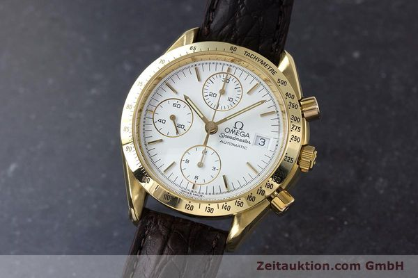 Used luxury watch Omega Speedmaster chronograph 18 ct gold automatic Kal. 1152  | 153712 04