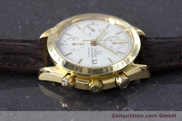 Used luxury watch Omega Speedmaster chronograph 18 ct gold automatic Kal. 1152  | 153712 05