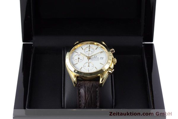 Used luxury watch Omega Speedmaster chronograph 18 ct gold automatic Kal. 1152  | 153712 07
