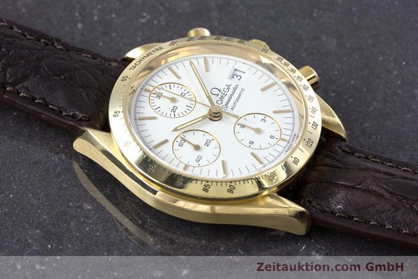 Used luxury watch Omega Speedmaster chronograph 18 ct gold automatic Kal. 1152  | 153712 15