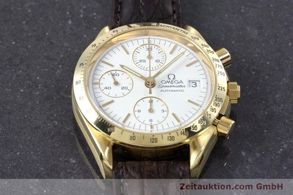Used luxury watch Omega Speedmaster chronograph 18 ct gold automatic Kal. 1152  | 153712 16