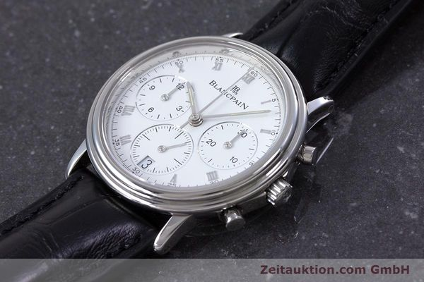 Used luxury watch Blancpain Leman chronograph steel automatic Kal. 1185  | 153715 01