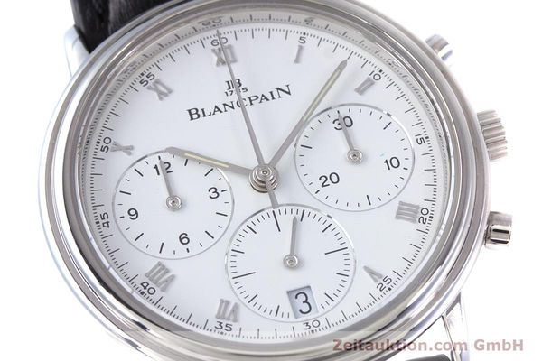Used luxury watch Blancpain Leman chronograph steel automatic Kal. 1185  | 153715 02