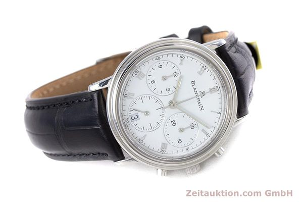 Used luxury watch Blancpain Leman chronograph steel automatic Kal. 1185  | 153715 03