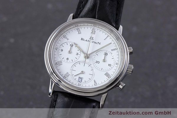 Used luxury watch Blancpain Leman chronograph steel automatic Kal. 1185  | 153715 04