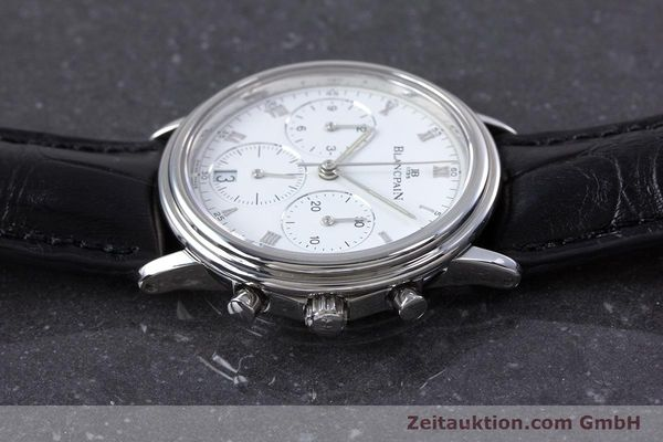 Used luxury watch Blancpain Leman chronograph steel automatic Kal. 1185  | 153715 05