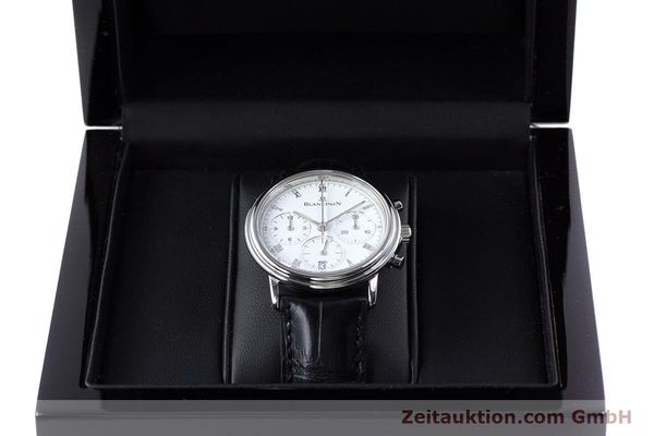 Used luxury watch Blancpain Leman chronograph steel automatic Kal. 1185  | 153715 07