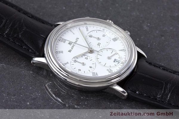 Used luxury watch Blancpain Leman chronograph steel automatic Kal. 1185  | 153715 12