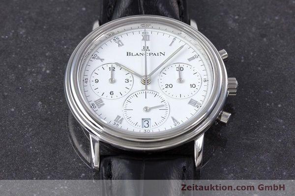 Used luxury watch Blancpain Leman chronograph steel automatic Kal. 1185  | 153715 13